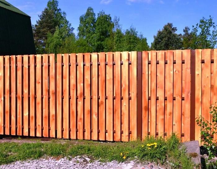 вертикальный забор из досок