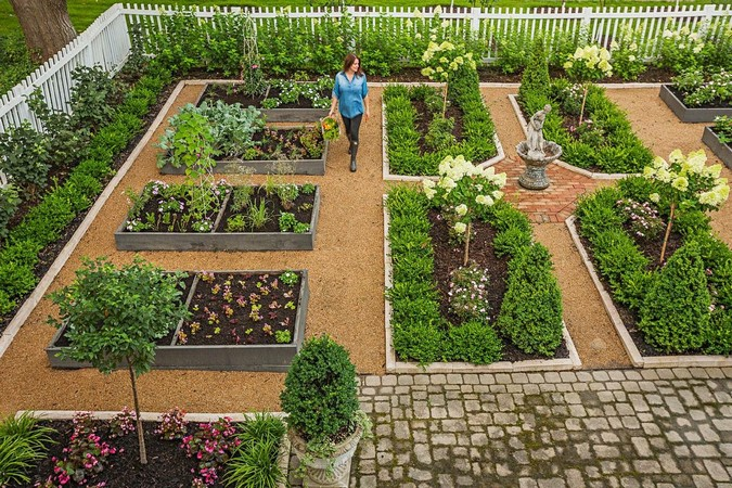 Как устроить красивый огород в частном доме с грядками (29 фото)